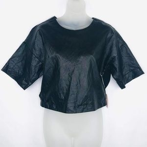 Forever 21 Vegan Leather Crop Top NWT